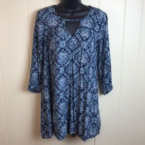 3/$27 American Eagle Blue Hippie Boho Tunic Top